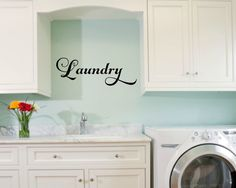 Laundry Room Vinyl Laundry Decal Laundry Wall Decal Laundry Vinyl Decal Laundry Door Decal Laundry Room Decal Laundry Room Decor by RunWildVinylDesigns on Etsy https://www.etsy.com/listing/264888902/laundry-room-vinyl-laundry-decal-laundry