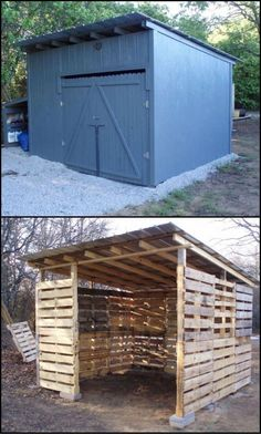 You can now make your garden shed with old shipping pallets. It is a big project so you have to collect a number of old shipping pallet woods for it.