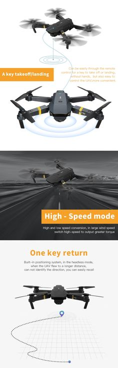 US Warehouse | Eachine E58 WIFI FPV With 2MP Wide Angle Camera High Hold Mode Foldable RC Drone