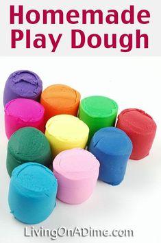 Homemade Play Dough Recipe - 14 EASY Recipes You Kids Will LOVE!