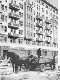 Berlin, Bau Karl-Marx-Allee, Block B-Nord | 26.1.1953 | Foto: Krueger