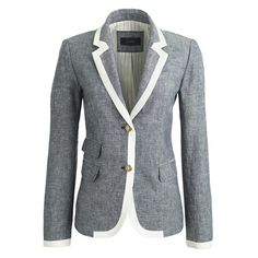 Schoolboy blazer in tipped linen /// j.crew