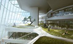 Solar-powered Xinhee Design Center is inspired by human skin and bones…