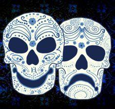 Sugar skull theatre masks