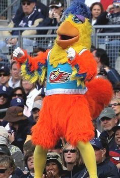 The San Diego Chicken (he has no name ... just chicken!)