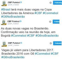 BotafogoDePrimeira: CBF anuncia que o Brasil terá mais duas vagas na p...