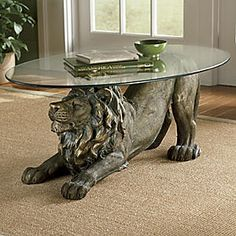 Crouching Lion Table from Seventh Avenue ®