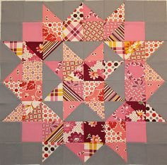 scrappy swoon block--like the gray bkgd