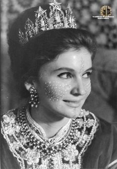 Beautiful Princess Lamia Solh, wife of the late Prince Moulay Abdellah #Tiara #Jewelery #Morocco #RoyalJewels