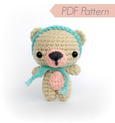 PDF Crochet Pattern, Amigurumi Pattern - Cutie Bear - Instant Download