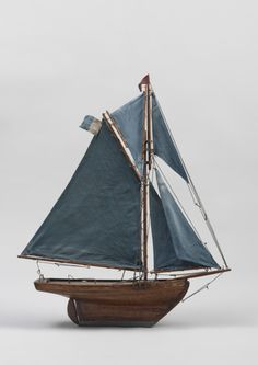 Robert Young Antiques - Folk Art Collection. Vintage Pond Yacht, English c.1900