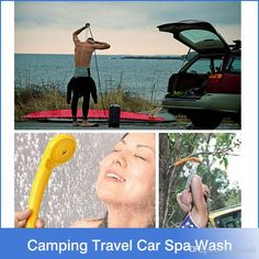 2017 Promotion Washing Machine Parking Camping Hiking Travel Car Pet Shower Spa Wash Kit Outdoor Useful Tools Outdoor Tools, Outdoor Camping, Indoor Outdoor, Pompe A Eau 12v, Camping Must Haves, Car Washer, Van Camping, Spa, Water Powers