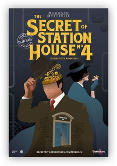 60 minutes is all you have to save Detective Murdoch in this immersive escape game for all ages. Solve the Secret of Station House No. Murder Mystery Books, Mystery Show, Murdock Mysteries, Detective Sherlock Holmes, Family Outing, Nonfiction Books, 6 Years, Movie Tv, Pop Culture