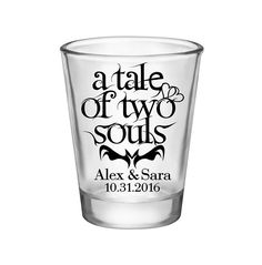 """100x Personalized Shot Glasses Halloween Wedding Favors 
