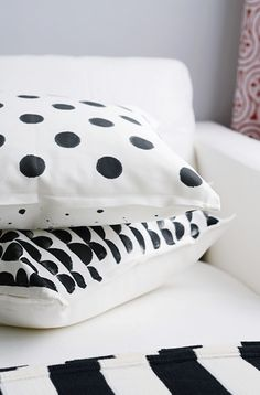 Potato Stamp Pillows DiY                                                                                                                                                                                 More
