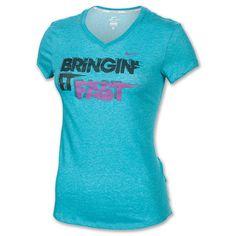 Women's Nike Bringing It Fast T-Shirt| FinishLine.com | Aquamarine Heather