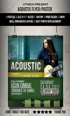 Acoustic Music Event Flyer  Poster  Acoustic Music Event Flyers