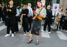Irene Kim in Prada. Yes, it's Prada.  But would you wear this whole look?