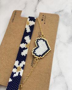 Miy ✩ ✩ ✩ ✩ ✩ ✩ ✩ ✩ ✩ ✩ ✩ ✩ ✩ ✩ ✩ ✩ ✩ ✩ © ️Design & Photo📸 ➡️Dm miyuki – Do not use without permission! Bead Embroidery Jewelry, Beaded Jewelry Patterns, Bracelet Patterns, Bead Loom Patterns, Beading Patterns, Jewelry Crafts, Handmade Jewelry, Motifs Perler, Diy Schmuck