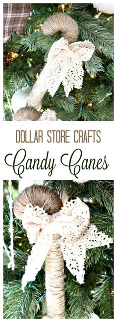 diy ornaments, candy cane crafts, easy candy cane, easy Christmas ornament, home made Christmas decorations Easy Christmas Ornaments, Easy Christmas Decorations, Simple Christmas, Christmas Diy, Diy Ornaments, Ornament Crafts, Christmas Things, Christmas Candy, Candy Cane Decorations