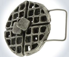 Waffle Belt Buckle | DudeIWantThat.com This just begs for a breakfast in bed joke :x