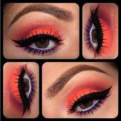 sugarpillmakeup: Love this striking color combo! @Vicky Lee Lee Lee Armendariz used #Sugarpill Poison Plum eyeshadow on her lower lid and crease with #MACcosmetics Neo Orange pigment. #eotd