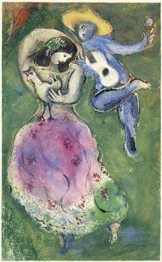 Marc Chagall - Couple de danseurs (1941)