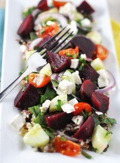 Post image for Steamed Beet & Whole Grain Barley Salad