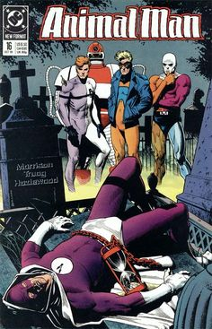 The cover to Animal Man #16 (1989), art by Brian Bolland