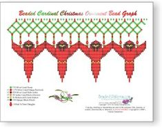 Beading Patterns and kits by Dragon! Cardinal Christmas Ornament -  Beaded Cardinal Christmas Ornament Pattern and Kit! You can now make your own Beaded Cardinal Christmas Ornament! The Pattern is a 11 page, full color, step-by-step instruction booklet. Intended for a 2 ½ inch Christmas ornament! Not sure which to buy! Learn More Pattern and Kit! The kit includes: (approx. amount of seed beads) 378