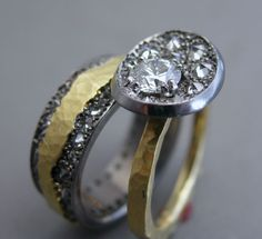18k gold, silver, diamonds