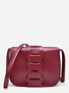 Bags by BORNTOWEAR. Pu Flap Shoulder Bag