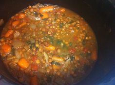 Easy Crockpot Lentil and Veggie Stew