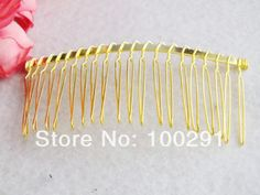 Free shipping !!! Bluk 200pcs/lot DIY Wire gold plated hair comb,hair jewelry findings MN-918 $108.77