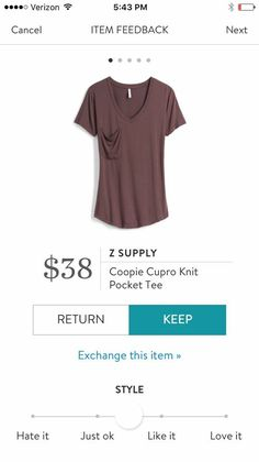I can never have enough v neck t shirts! Wardrobe staple. Has to be long enough though!