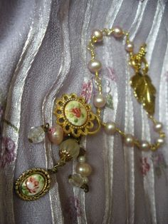 Vintage Victorian Pink Freshwater Pearl by AtticAntiquesVintage, $20.00
