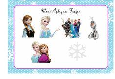50 mini recortes para decoração Frozen