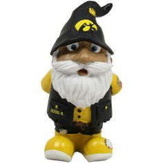 Iowa Hawkeyes Stumpy Garden Gnome by Forever Collectibles. Save 1 Off!. $9.95. Hand painted. Resin. Great for the garden or inside. Full team colors. 8 inches tall. These new roaming Garden Gnomes are ready for your garden! These 8 inch tall figures are made of a resin material and come to you with full team colors and team specific logos. They are cute, fun and love to travel from time to time! They are perfect for your garden, patio, desk or shelf. Made by Forever Collectibles.