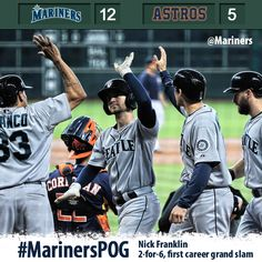 King Felix fans 7 over 6 innings, Franklin smacks a grand slam in #Mariners 12-5 win and sweep of #Astros 7/21/13