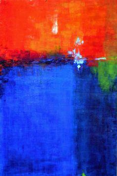 "Ana Elisa Benavent   ""After the Rain"", acrylic on board, 24"" x 36"""