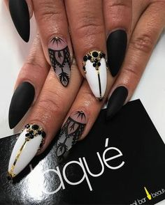 laque'd matte I like the white gold and black - royal looking