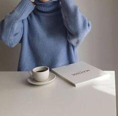 blue aesthetic jumper coffee milk tea book pastel light korean soft minimalistic kawaii cute g e o r g i a n a : a e s t h e t i c s Light Blue Aesthetic, Blue Aesthetic Pastel, Aesthetic Colors, Aesthetic Photo, Aesthetic Vintage, The Blue Boy, Blue And White, Orange Yellow, Ravenclaw