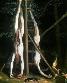 #DeLijkenVanDeGebroedersDeWitt #JanDeBaen #Brigittinenstraat De hangende man #Brussel 2017 #Kapellekerk