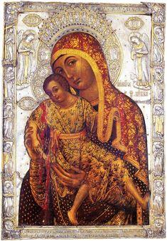 by the hand of Saint Luke. Byzantine Icons, Byzantine Art, Religious Icons, Religious Art, Madonna, Lapsed Catholic, Famous Freemasons, Russian Icons, Christian Religions