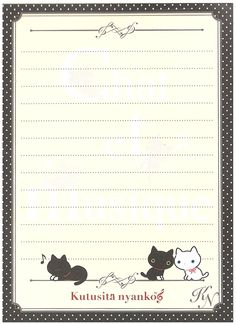 San-x Kutusita Nyanko Le Chat Big Memo Pad w/ Stickers