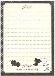 San-x Kutusita Nyanko Le Chat Big Memo Pad w/ Stickers