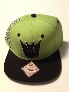 7ba1289bc729f Transformers Hat Cap Neon Green Snapback MARVEL COMICS COSTUME COSPLAY HAT   Bioworld  BaseballCap Comic