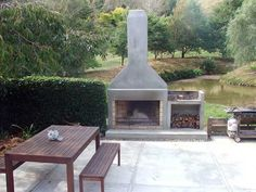 fireplace - concrete render