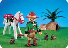 playmobil 3884 - ,Mountie horse and rabbits times two!