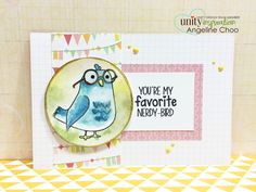 Stamp of the Week - Nerdy Bird #unitystampco #scrappyscrappy